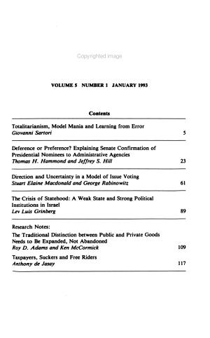 Journal of Theoretical Politics