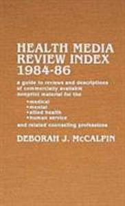 Health Media Review Index  1984 86 Book