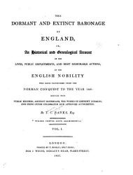 The Dormant And Extinct Baronage Of England Book PDF