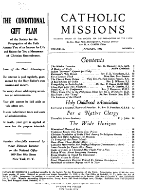 Catholic Missions and Annals of the Propagation of the Faith