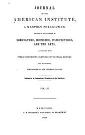 Journal Devoted To...agriculture and Commerce: Volume 3