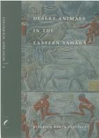 Desert animals in the eastern Sahara   status  economic significance  and cultural reflection in antiquity PDF