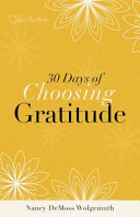 30 Days of Choosing Gratitude Booklet