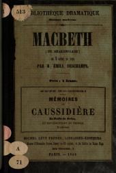 Macbeth: (de Shakespeare) : en cinq actes, en vers