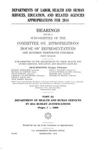 Departments of Labor  Health and Human Services  Education  and Related Agencies Appropriations for 2014  Outside witness testimony PDF