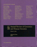Annual Review of Genomics and Human Genetics 2012