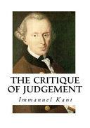 The Critique of Judgement PDF
