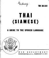 Thai (Siamese): A Guide to the Spoken Language, Volume 30, Issue 331