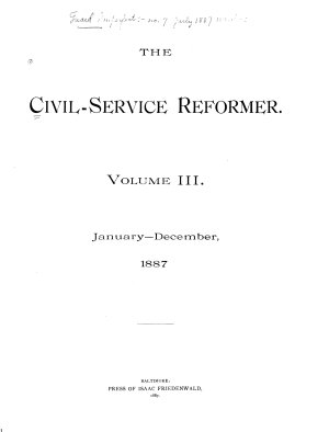 The Civil Service Reformer PDF