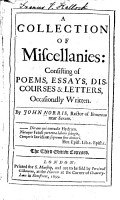 A Collection of Miscellanies PDF