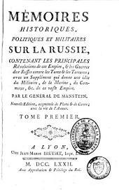 Mémoires historiques, politiques et militaires sur la Russie: Volume1