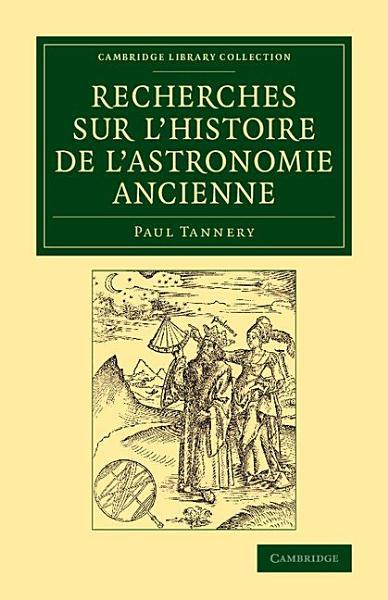 Download Recherches sur l histoire de l astronomie ancienne Book