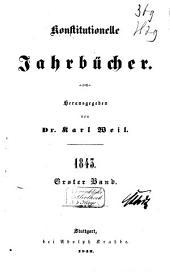 Konstitutionelle Jahrbücher: Band 1