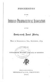 Proceedings of the American Pharmaceutical Association at the Annual Meeting: Volume 27