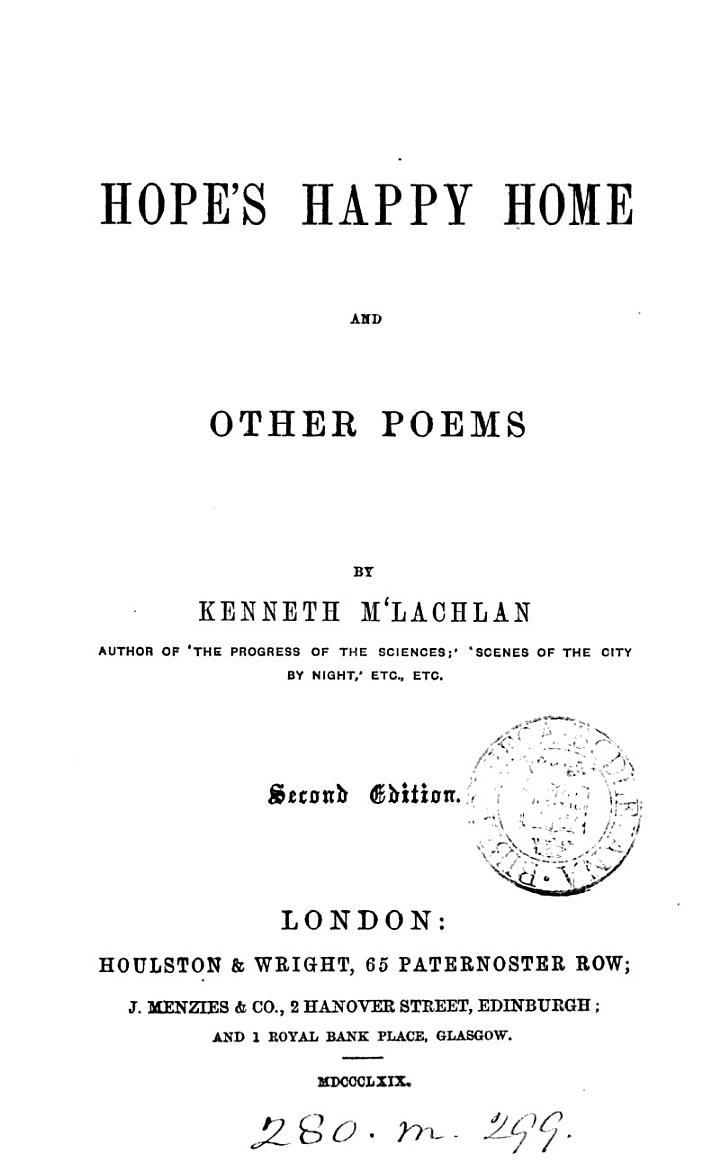 Hope's Happy Home and Other Poems