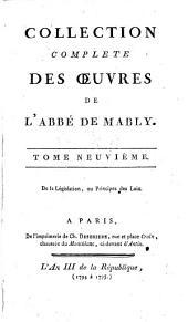 Collection complète des œuvres de l'Abbé de Mably. (Œuvres posthumes.).