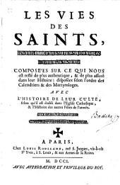 Les vies des saints......