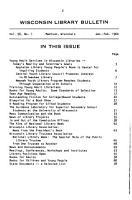 Wisconsin Library Bulletin PDF