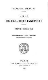 Polybiblion: Revue bibliographique universelle, Volume72