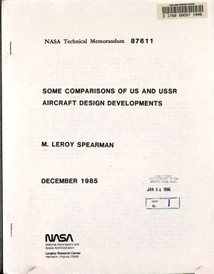 Some Comparisons of US and USSR Aircraft Design Developments PDF