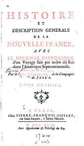 Histoire et description generale, livre I-XII [1504-1690] Table des matieres