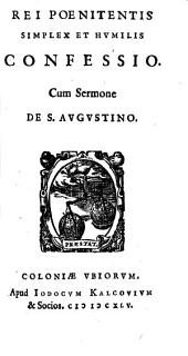 Rei poenitentis simplex et humilis Confessio