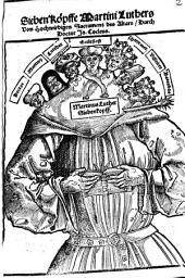 Sieben Köpffe Martini Luthers Vom Hochwirdigen Sacrament des Altars