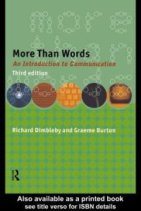 More Than Words Book
