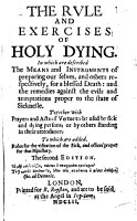The Rule and Exercises of Holy Dying     The Second Edition   With a Plate   PDF