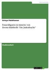 """Frauenfiguren in Annette von Droste-Hülshoffs """"Die Judenbuche"""""""
