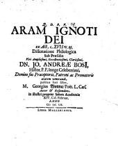 Aram Ignoti Dei ex Act. c. XVII: Volume 23