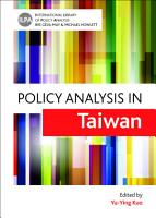 Policy analysis in Taiwan PDF