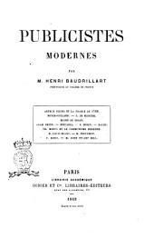 Publicistes modernes