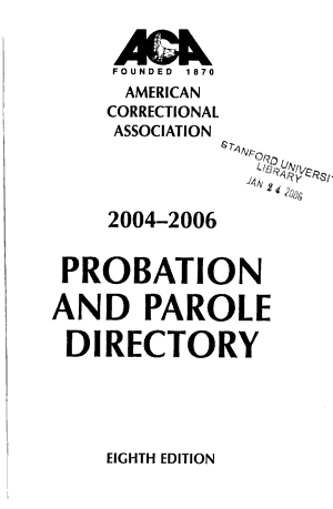 Probation and Parole Directory