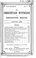 Christian Witness and Congregational Magazine PDF