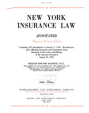 New York Insurance Law, Annotated ...