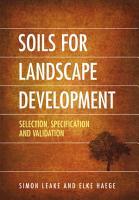 Soils for Landscape Development PDF