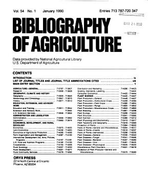 Bibliography of Agriculture PDF