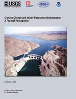 Climate Change and Water Resources Management PDF