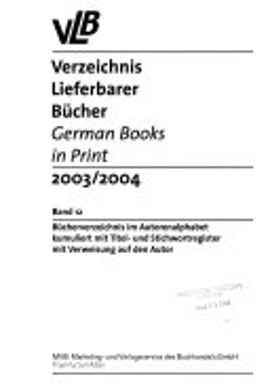 Verzeichnis lieferbarer B  cher PDF