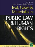 Text  Cases and Materials on Public Law and Human Rights PDF