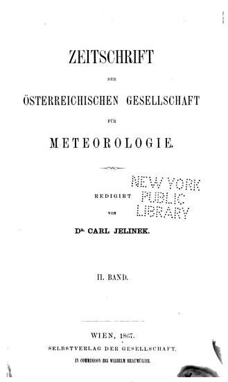 Zeitschrift der   sterreichischen Gesellschaft f  r Meteorologie PDF