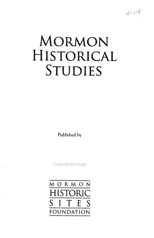 Mormon Historical Studies
