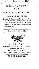 """Continuation des """"Mille et une nuits"""", contes arabes: Volume2"""
