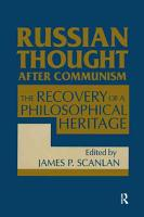 Russian Thought After Communism PDF