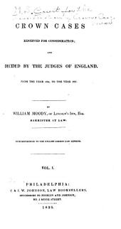 Crown Cases Reserved for Consideration [1824-44]: 1824 to 1837