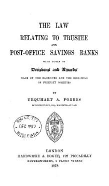 The Law Relating to Trustee and Post office Savings Banks PDF