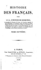 Histoire des Français: Volume7