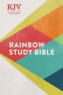 KJV Rainbow Study Bible  Hardcover