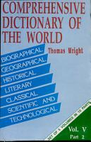 A Comprehensive Dictionary of the World PDF